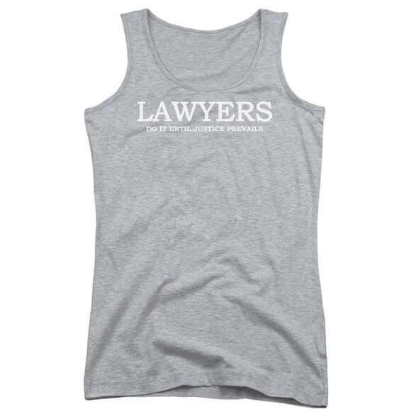 Lawyers Do It Justice Juniors Tank Top Athletic