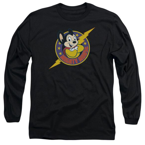 Mighty Mouse Mighty Hero Long Sleeve Adult T-Shirt