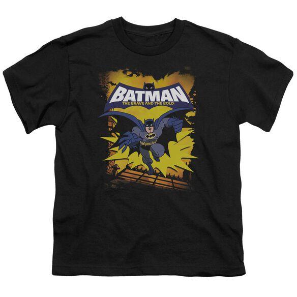 Batman Bb Rooftop Leap Short Sleeve Youth T-Shirt