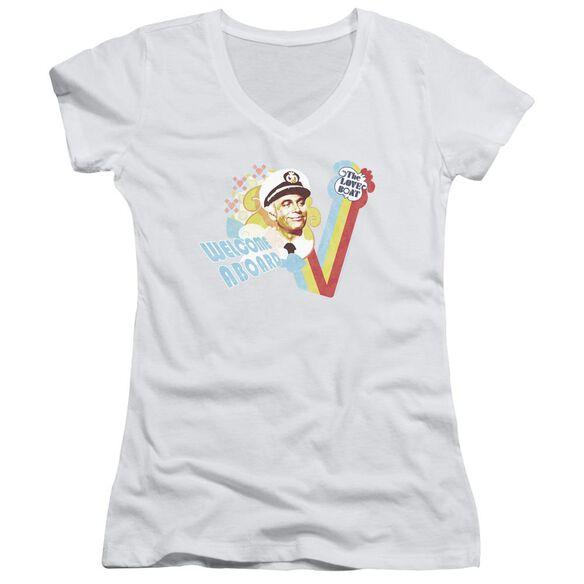 Love Boat Welcome Aboard Junior V Neck T-Shirt