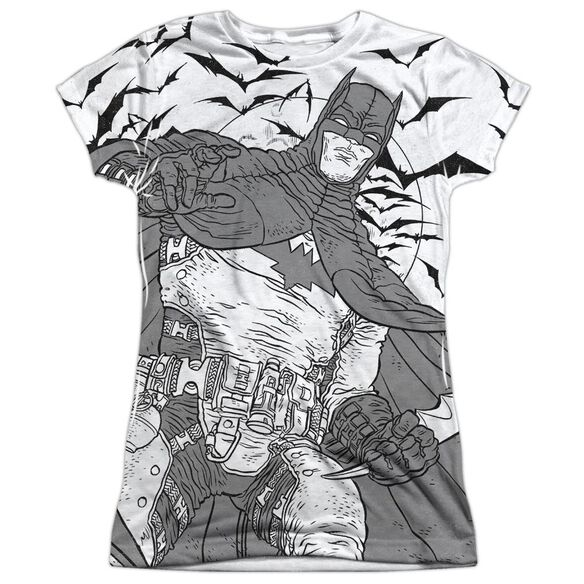 Batman Liney Sub Short Sleeve Junior Poly Crew T-Shirt