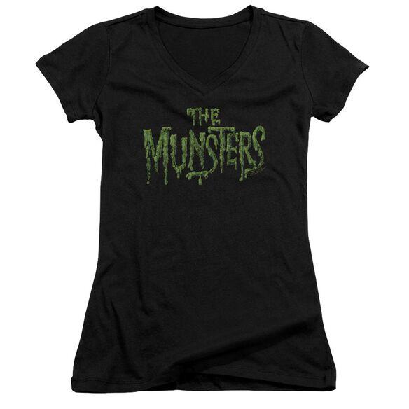 The Munsters Distress Logo Junior V Neck T-Shirt