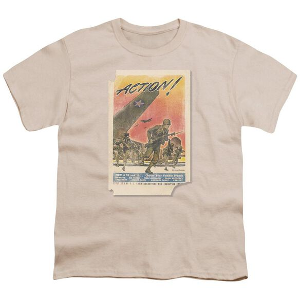 Army Action Poster Short Sleeve Youth T-Shirt