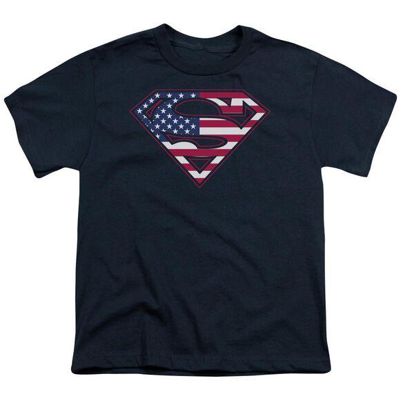 Superman U S Shield Short Sleeve Youth T-Shirt
