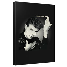 David Bowie Heroes Canvas Wall Art With Back Board