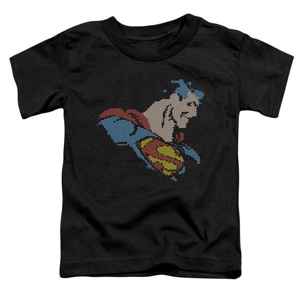 Dc Lite Brite Superman Short Sleeve Toddler Tee Black Md T-Shirt