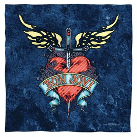 Bon Jovi Weathered Denim Bandana