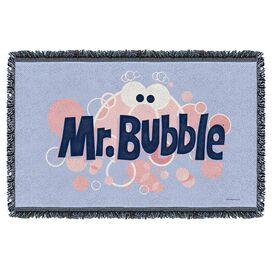 Mr Bubble Eye Logo Woven Throw