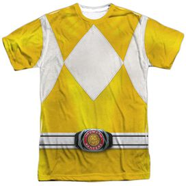 Power Rangers Yellow Ranger Short Sleeve Adult Poly Crew T-Shirt