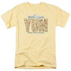 White Castle Yum Short Sleeve Adult Banana T-Shirt