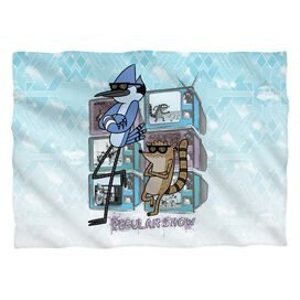 Regular Show Tv Too Cool (Front Back Print) Pillow Case White