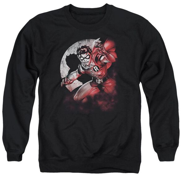 Batman Robin Spotlight - Adult Crewneck Sweatshirt - Black