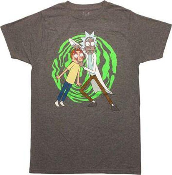 Rick and Morty Spiral Hold T-Shirt Sheer