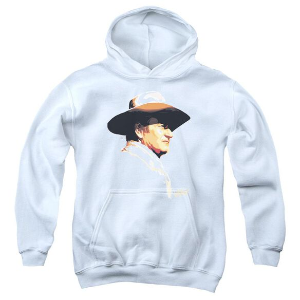 John Wayne Painted Profile Youth Pull Over Hoodie