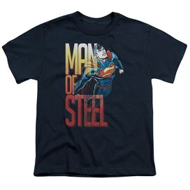 Superman Steel Flight Short Sleeve Youth T-Shirt
