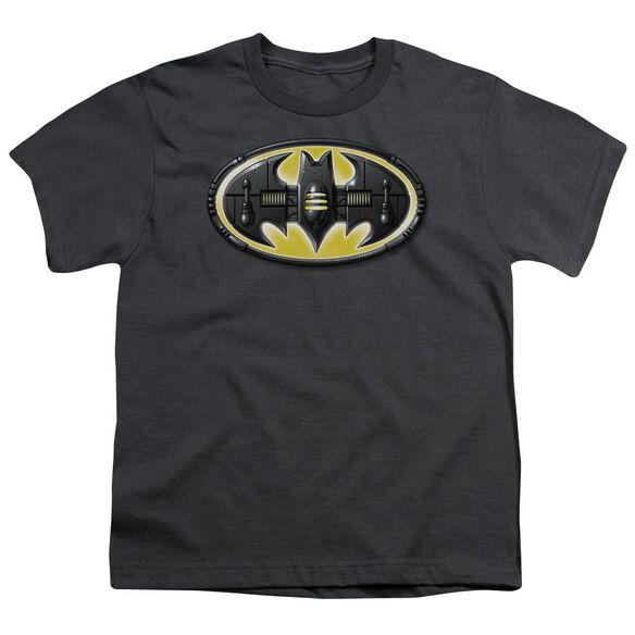 Batman Bat Mech Logo Short Sleeve Youth T-Shirt
