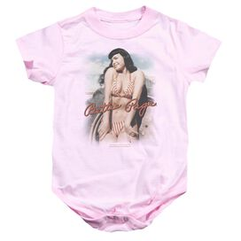Bettie Page Wholesome Infant Snapsuit Pink Md