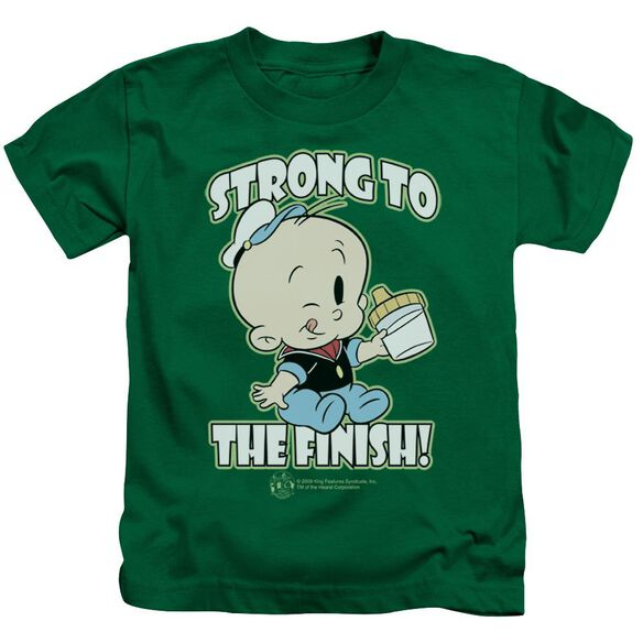 Popeye Strong To The Finish Short Sleeve Juvenile Kelly T-Shirt