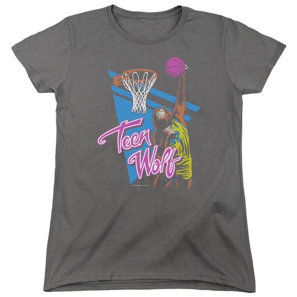 Teen Wolf Slam Dunk Short Sleeve Womens Tee T-Shirt