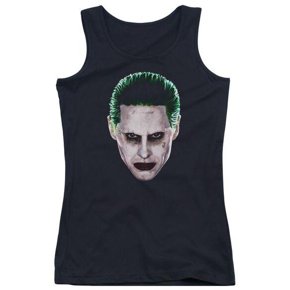 Suicide Squad Joker Head Juniors Tank Top