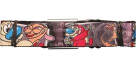 Ren and Stimpy Text Poses Seatbelt Belt