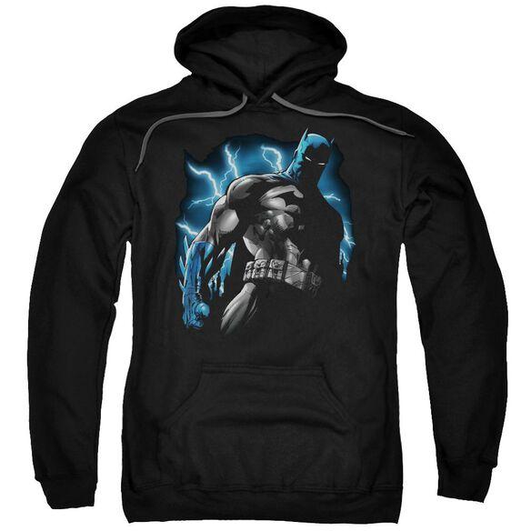 Batman Gotham Lightning Adult Pull Over Hoodie