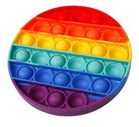 Push Pop-Rainbow Circle Bubble Sensory Fidget Toy