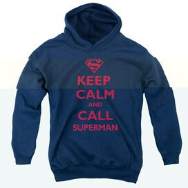 Superman Call Superman-youth Pull-over Hoodie - Navy