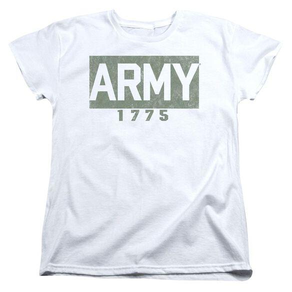 Army Block Short Sleeve Womens Tee T-Shirt
