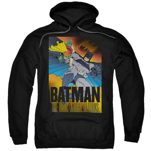 Batman Dk Returns Adult Pull Over Hoodie Black