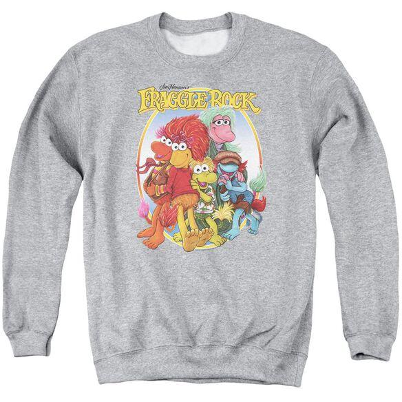 Fraggle Rock Group Hug Adult Crewneck Sweatshirt Athletic