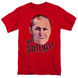 Three Stooges Why Soitenly Short Sleeve Adult T-Shirt