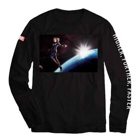 Captain Marvel in Space Long Sleeve T-Shirt