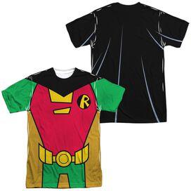 Teen Titans Go Robin Uniform (Front Back Print) Short Sleeve Adult Poly Crew T-Shirt