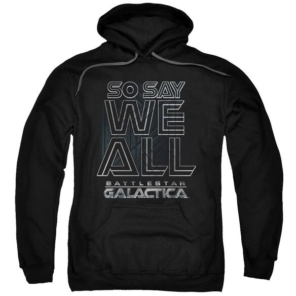 Bsg Together Now Adult Pull Over Hoodie Black