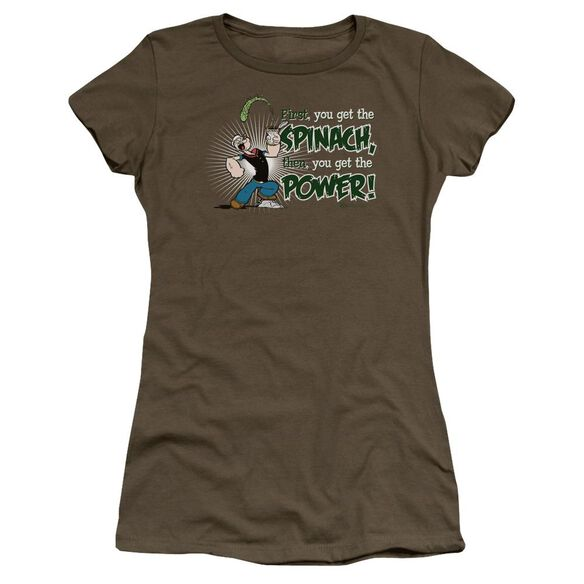 Popeye Spinach Power Premium Bella Junior Sheer Jersey Military
