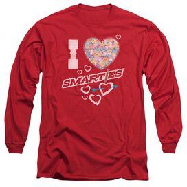 Smarties I Heart Smarties Long Sleeve Adult T-Shirt