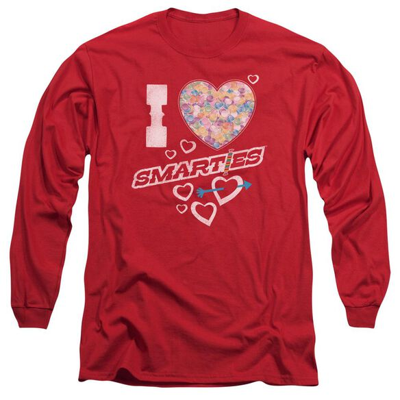 Smarties I Heart Smarties Long Sleeve Adult T-Shirt