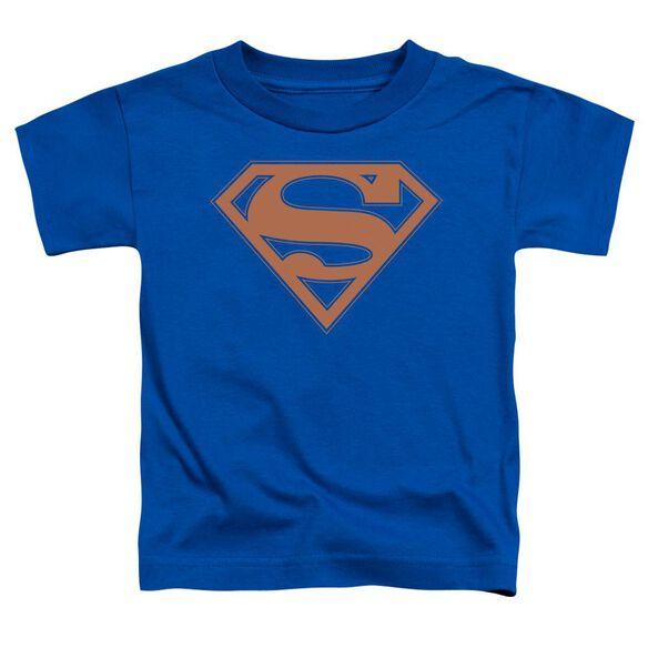Superman Blue & Orange Shield Short Sleeve Toddler Tee Royal Blue T-Shirt