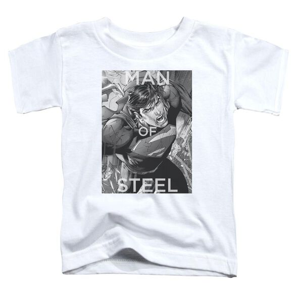 Superman Flight Of Steel Short Sleeve Toddler Tee White T-Shirt