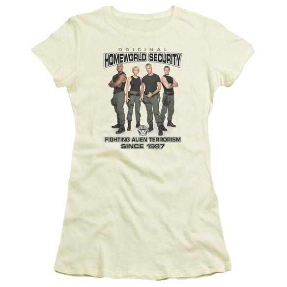 Sg1 Homeworld Security Short Sleeve Junior Sheer T-Shirt