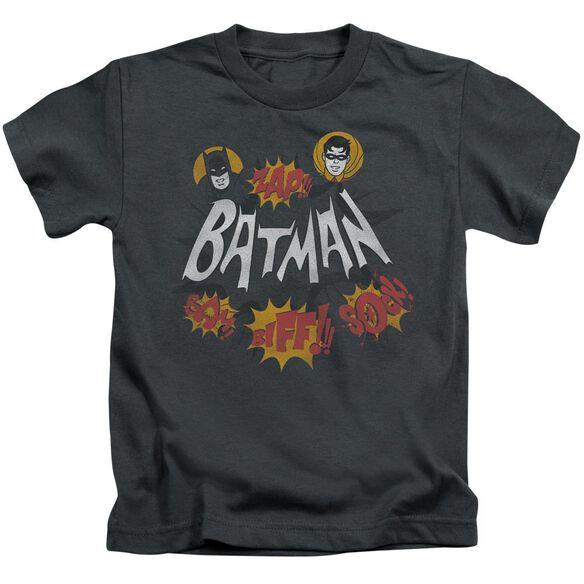 Batman Classic Tv Sound Effects Short Sleeve Juvenile Charcoal T-Shirt