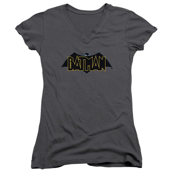 Beware The Batman Logo Junior V Neck T-Shirt