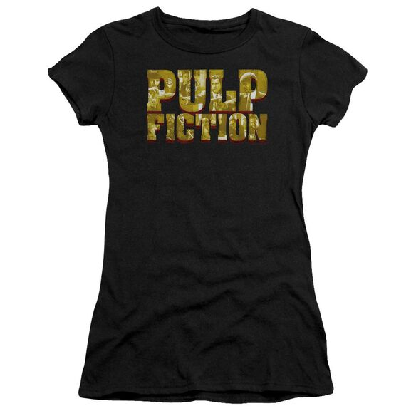 Pulp Fiction Pulp Logo Short Sleeve Junior Sheer T-Shirt