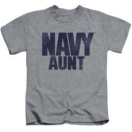 Navy Aunt Short Sleeve Juvenile Athletic T-Shirt