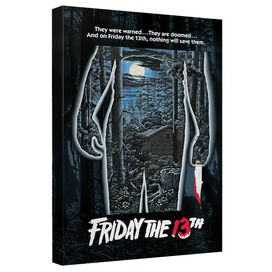Friday The 13 Th Poster Canvas Wall Art With Back Board