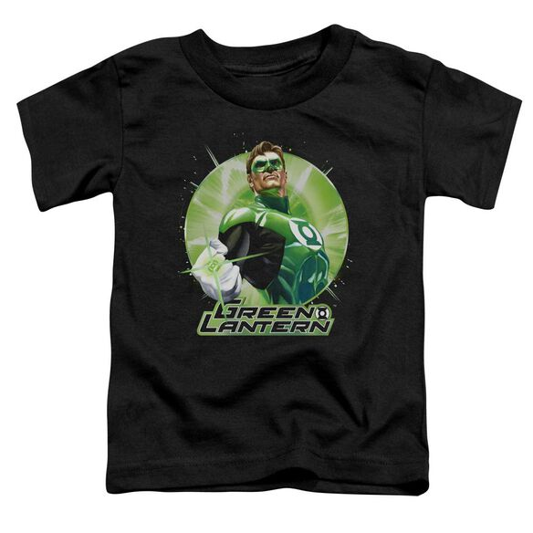 Jla Green Static Short Sleeve Toddler Tee Black T-Shirt