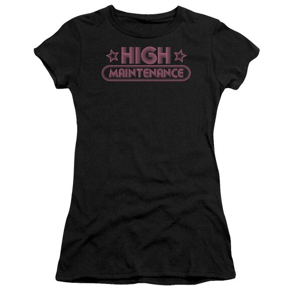 High Maintenance Short Sleeve Junior Sheer T-Shirt
