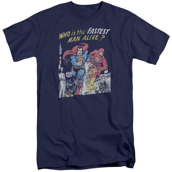 Jla Fastest Man Short Sleeve Adult Tall T-Shirt