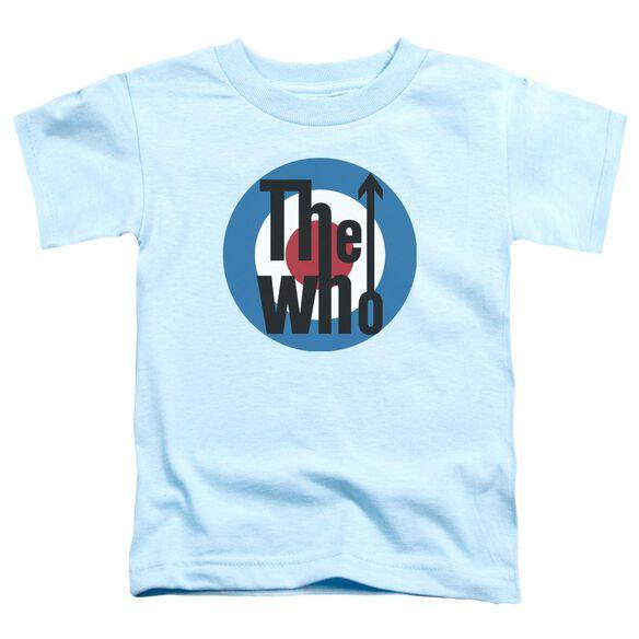 The Who Logo Short Sleeve Toddler Tee Light Blue T-Shirt